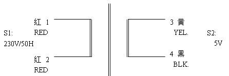5VA小型变压器原理指示图