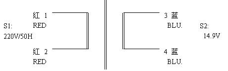 8VA小型变压器原理指示图